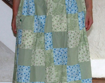 Patchwork Skirt with Turtle Button