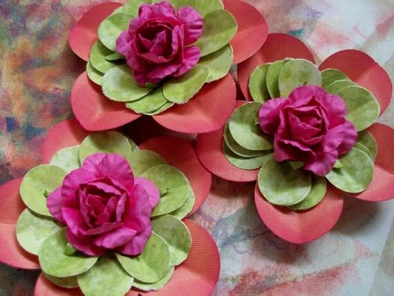 PaperFlowerWithinAPaperFlowerOrangeLimeRaspberry