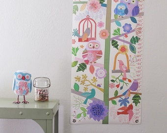 Birds & Branches - Personalized Canvas growth chart