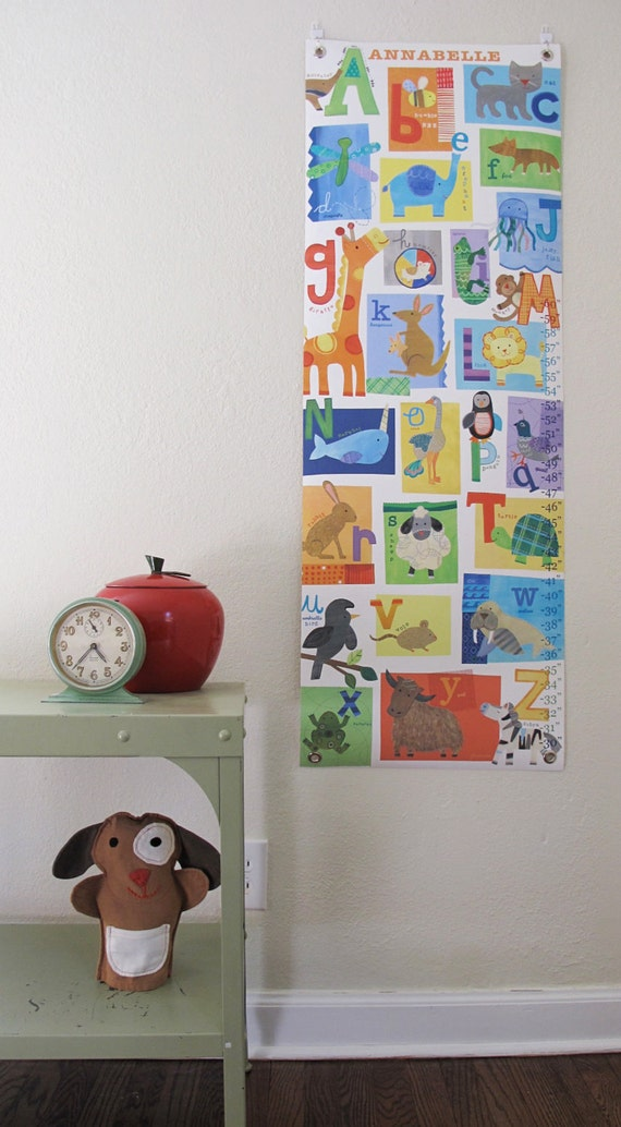 A thru Z - Personalized Canvas growth chart