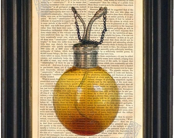 Antique Chloroform Esmarch's Dropper Print on vintage upcycled page mixed media