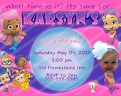 Bubble Guppies PERSONALIZED birthday invitation, add a photo, you print, digital file