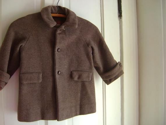 Vintage Childrens Wool Coat/ Handmade