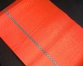 Free Shipping Vintage Japanese Hassun Obi Belt/ Stripe / Orange
