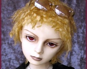 """BJD Fur Wig / Shaggy Curl style / made-to-order in your choice of size and colour / for large BJD, 8-9"""" head size"""