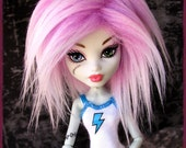 Monster High Fur Wig / Snow Cone style / synthetic fur wig / made-to-order