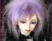 "BJD Fur Wig / Violet Wings style / violet mix / made-to-order / for large SD, 8-9"" head size"