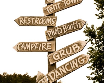 Customized Wedding Directional Signs