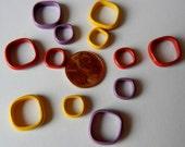 Enamel spacers in bright colors