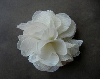 Vintage inspired fabric flower pendant