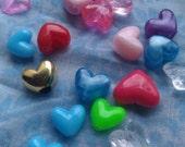 Heart Beads - Assorted Mix