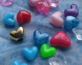 Heart Beads - Assorted Mix