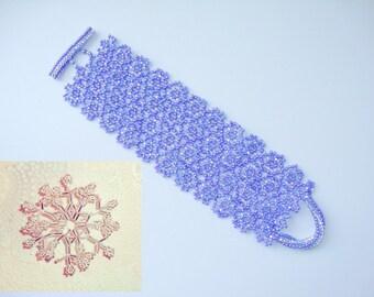 2 Patterns Beaded - Snowflake & Bracelet - tutorial instruction