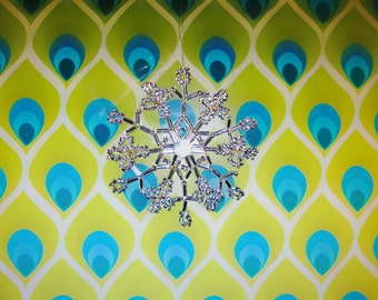 PDF Pattern Beaded Snowflake no. 001 tutorial instruction step by step
