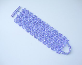 PDF Pattern Beaded Bracelet tutorial instruction
