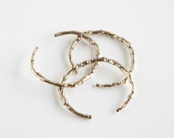 Brooklyn Branch Cuff/Open Bangle Bracelet by Miski Metal - Brass