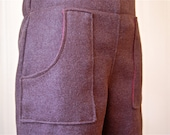 Flat Front Trousers with Pockets in Chocolate Brown