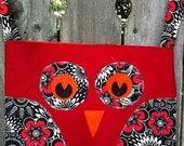 Owl Bag - red/black (large)