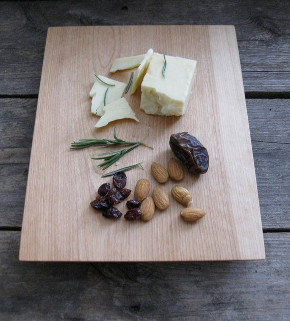 Serving Platter - reclaimed ood Large Birch cheese bread board tray eco rustic modern farmhouse kitchen