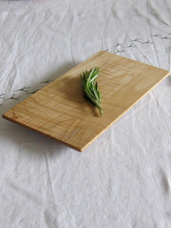Wood Platter - Reclaimed ripple figure birch serving tray platter eco kitchen dining hosting P110