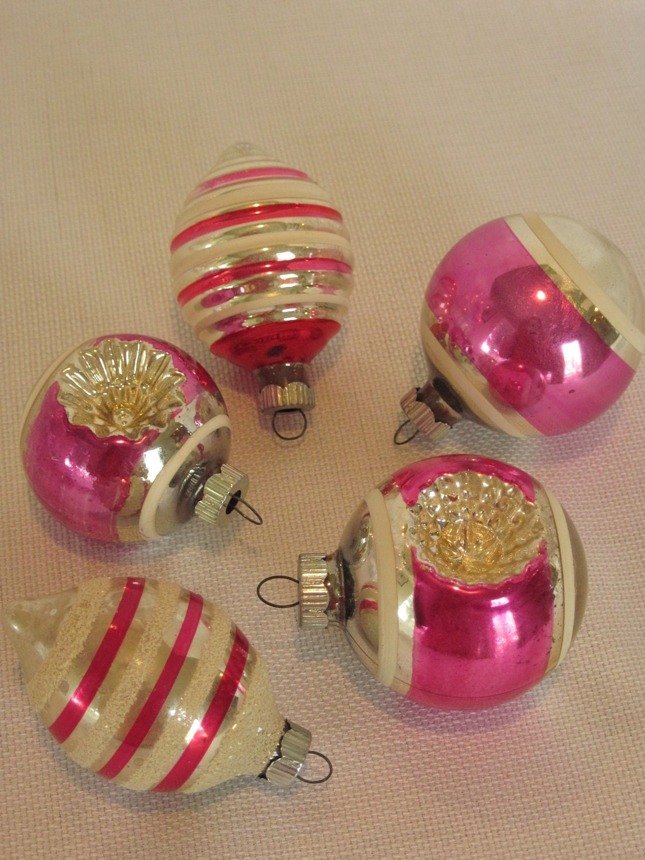 Christmas Ornaments Mercury Glass