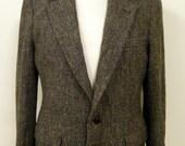 Mens Harris Tweed jacket,  in a multi herringbone tweed