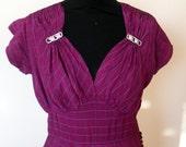 1970's Purple maxi dress with sparkle detail size S