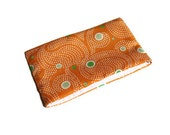 Reusable Snack Bag, Orange with velcro closure, Eco Friendly, Reusable