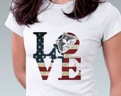 LOVE Philadelphia Vintage American Flag Cat T Shirt  Kitten Cat Kitty Art Print Women T-Shirt Cat Lover Gift Robert Indiana