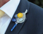 Custom Button holes, Groom, Ushers, Best Man and Father of the bride