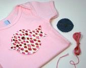 Embroidered appliquéd baby onesie kit