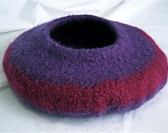 Purple and Violet Felted Bowl