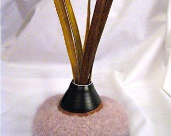 Creamy Pink Felted Alpaca Bowl/Vase