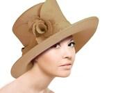 Mr. Song 47500 Soft Felt hat with Felt Flower