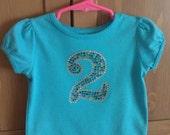 Birthday Number Rhinestone Sparkle Shirt