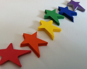 "1"" star die cuts, scrapbook embellishments, no.2  (60 count)"