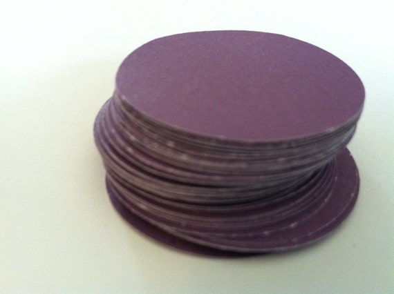 "1.5"" circles, hand puched cardstock paper embellishments  (40 count)"