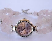Watch Bracelet - Rose Quartz