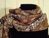 New Longer Length Silky Chiffon Scarf--Gorgeous Tiger Print