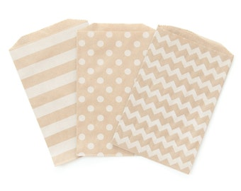 Brown Patterned Paper Bags