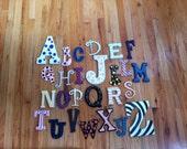 ABC Painted Wood Letters- Entire Alphabet