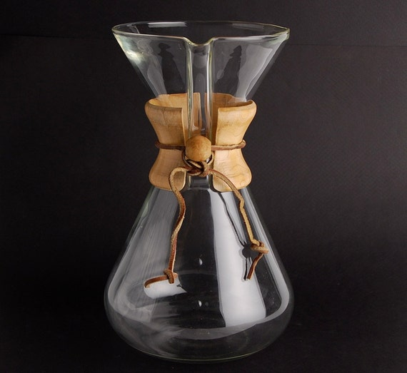 Vintage Chemex Coffee Maker HAND BLOWN Germany by Zetro on Etsy