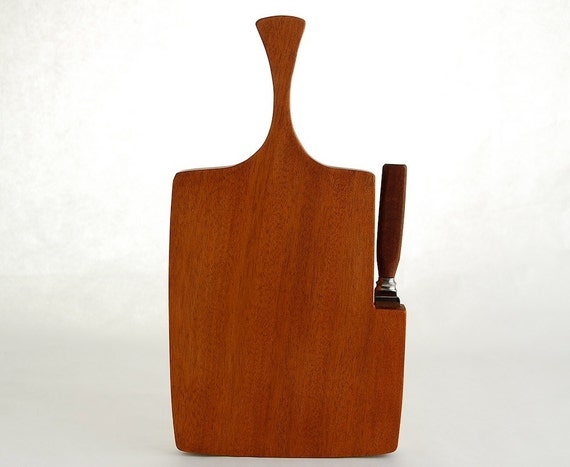 Danish Modern Style Wood Cheese Board