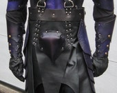 Leather Armor Dark Elf Fantasy Set