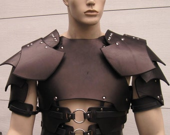 Leather Armor Dark Talon Chest Back & Shoulders with border
