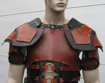 Leather Armor Deluxe Dark Talon Chest Back & Shoulders
