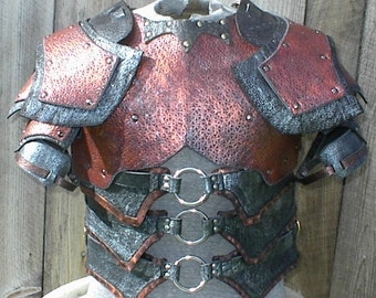 Leather Armor Deluxe Dark Talon Chest Back & Shoulders