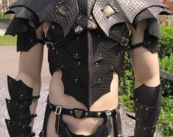 Leather Armor Gothic Dragon Scale Set