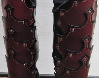 Leather Armor Gothic Greaves