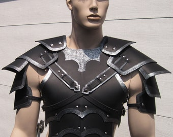 Leather Armor Bordered Gothic Chest Back and Shoulders